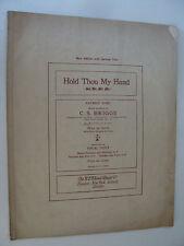 1904 Hold Thou My Hand English / German in Eb Sacred sheet C S Briggs, Bernhoff