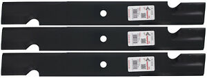 """3 Rotary® High-Lift Commercial Blades for Lastec® P-322 P-246 61"""" Deck"""