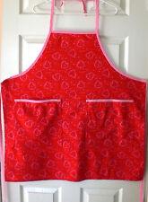 Kitchen Chef Bib Apron, Hearts & Kisses - Valentine's Day Gift Idea