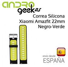 Correa silicona para Xiaomi Huami Amazfit de 22mm color Negro - Verde