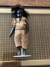 "Antique Composition Black Baby Doll 6"" African American Jointed Arms & Legs"