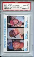 1973 Topps Baseball #615 Mike Schmidt Rookie Card RC Graded PSA Nm MINT 8 Cey