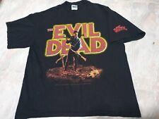Rare The Evil Dead T-Shirt Horror Halloween Sam Raimi Movie Bruce Campbell