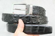 Black Genuine Alligator Crocodile Leather SKIN MEN'S Belt - Without Jointed