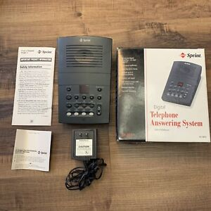 Sprint Radioshack Digital Telephone Answering System 4 mailboxes SP-813 - Works!