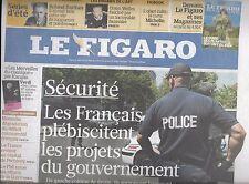 LE FIGARO N°20532 06/08/2010  SECURITE/ BARTHES/ WELLES/ FESTIVAL LORIENT/ H1N1