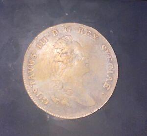 1 swedish riksdaler silver coin 1781