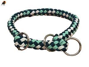 G2 Tauwerk Halsband mit Zugstop 12mm, geflochten, Ringe verchromt, Peppermint