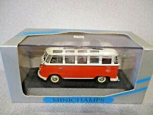 Minichamps 1:43 VOLKSWAGEN SAMBA BUS... Red over Cream..mint n boxed!