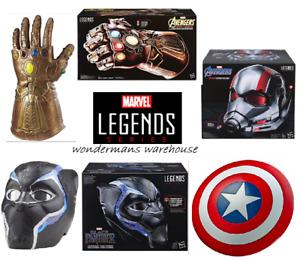 Marvel Legends Series - Infinity Gauntlet/Black Panther & Antman Helmets/Shield