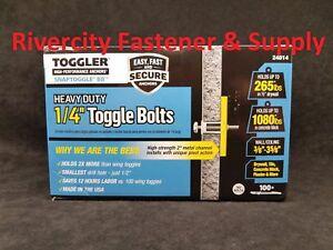 "(100) Toggler Snap Toggle BB  1/4""  Heavy Duty Strap Toggle  Bolts Anchor 24014"