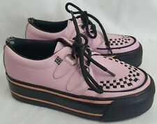 TUK Pink Checker creepers rockabilly psychobilly viva VLV punk M4 W6 shoes AS IS