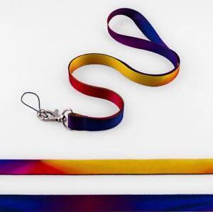 Rainbow GALAXY LIGHT Satin Lanyard Neck Strap Mobile Badge Key-ring Mp3 Holder
