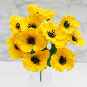 ARTIFICIAL SILK FLOWERS PANSY BUNCH 6 COLOURS Home Wedding Outdoor