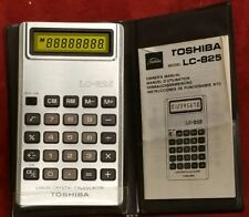 Vintage Toshiba LC-825 Calculator, Yellow LCD - Great Condition And Works Great!