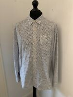 Mens Long Sleeved Fat Face Patterned Shirt Size XL Extra Large Great Condition!