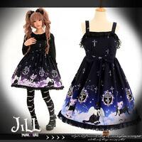 lolita fairy princess diary incubus cat butler night sky chiffon dress JI3063