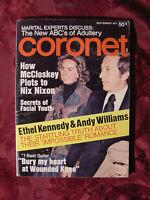 CORONET magazine September 1971 ETHYL KENNEDY ANDY WILLIAMS BILL COSBY