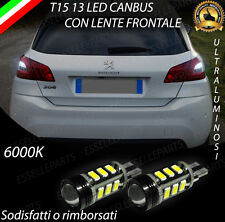 LAMPADE RETROMARCIA 13 LED T15 W16W CANBUS PER PEUGEOT 308 II 6000K NO AVARIA