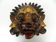 Rare Beautiful Barang Wood Artisan Crafted Painted Mask Wall Art Hand Carved #3
