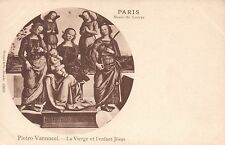 1920's VINTAGE VIRGIN & CHILD, PIETRO VANNUCCI in the LOUVRE PARIS POSTCARD