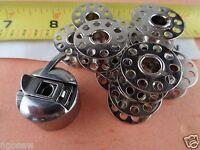 Kenmore Singer  White Sewing Machine 1 Bobbin Case  20 Bobbins