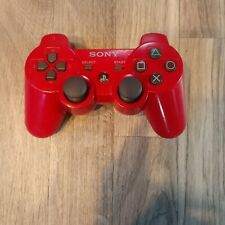 PS3 Sony PlayStation 3 Red Dualshock 3 Sixaxis Controller Tested