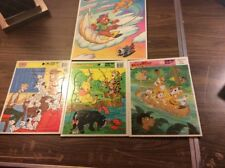 Vintage Walt Disney Frame Tray Puzzle Lot 4 Duck Tales Tail Spin Dalmations