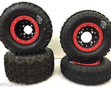 Hiper CF1 Beadlock Wheels STI Tech 4 Tires Front/Rear Kit Suzuki LTZ400 LTR450