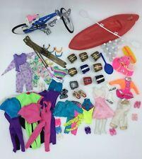 Barbie Sports Accessories Play Set Lot Bike Ski Kayak Surfboard Skates Outfits
