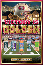 San Francisco 49ers 5-TIME SUPER BOWL CHAMPIONS Commemorative NFL Poster