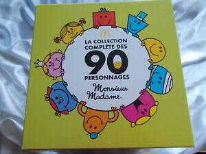 Collection complète MONSIEUR MADAME 90 figurines McDonald's, neuf
