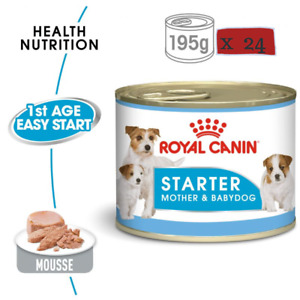 Saver Pack:  Royal Canin Starter Mousse Mother & Baby Dog Weaning Food 24 x 195g