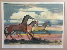 """Louie Ewing  """"Horse Play""""  Serigraph  121/125"""