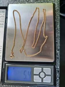 9KT Gold Necklace Chain - 333- 60cm - 23.6INCHES- 5.4g
