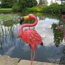 Metal Pink Flamingo Garden Ornament Pond Outdoor Display Sculpture Patio Decor