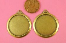 25Mm Mounting - 2 Pc(s) Vint Design Ant Brass Round