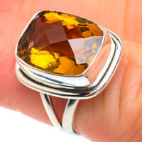 Mandarin Citrine 925 Sterling Silver Ring Size 6.5 Ana Co Jewelry R61182F