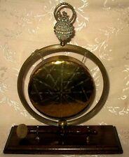 "Rare Victorian Brass Dinner Bell Gong called ""Esmeralda"""