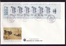 grande enveloppe 1er jour  journée du timbre  bande carnet   ; 1987