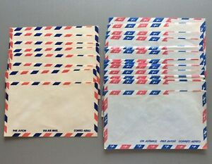 """LOT OF 26x VINTAGE 1950s AIRMAIL ENVELOPES FOR USE OR COLLECTING 6.5""""x3.75"""" RED"""