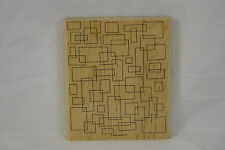 "Large Background Rubber Stamp - SQUARES - Stampin' Up! 2004 - 6"" x 5"""
