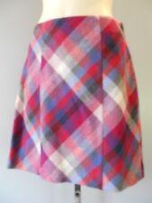 New H&M Plaid Tartan Pencil  Skirt Wool School Work Uniform Psychobilly Punk 6