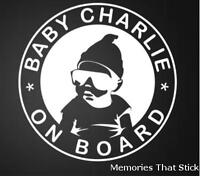 Personalised Hangover Baby (large) Funny Car Window Bumper Vinyl Decal Sticker