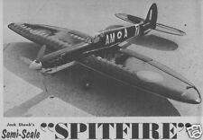"Model Airplane Plans (UC): Spitfire 50"" Semi-Scale Stunt for .35 by Jack Sheeks"