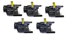5PK New Hi-Yield BK Ink For Brother LC75 LC71 MFCJ425W J430W J625DW J825DW J280W