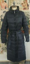 Jaeger Black Quilted Knee Length Coat Size 10