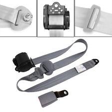 Grey 3 Point Seat Belt Lap & Diagonal Belt Extra long adjustable nylon straps