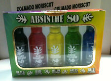 MINI PACK ABSINTHE 80 5 u x 4 cl cristal miniatura mignonette mini bottle absint