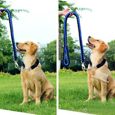 Large Dog Strong Lead Leash Pet Adjustable Braid Traction Rope Safe Collar